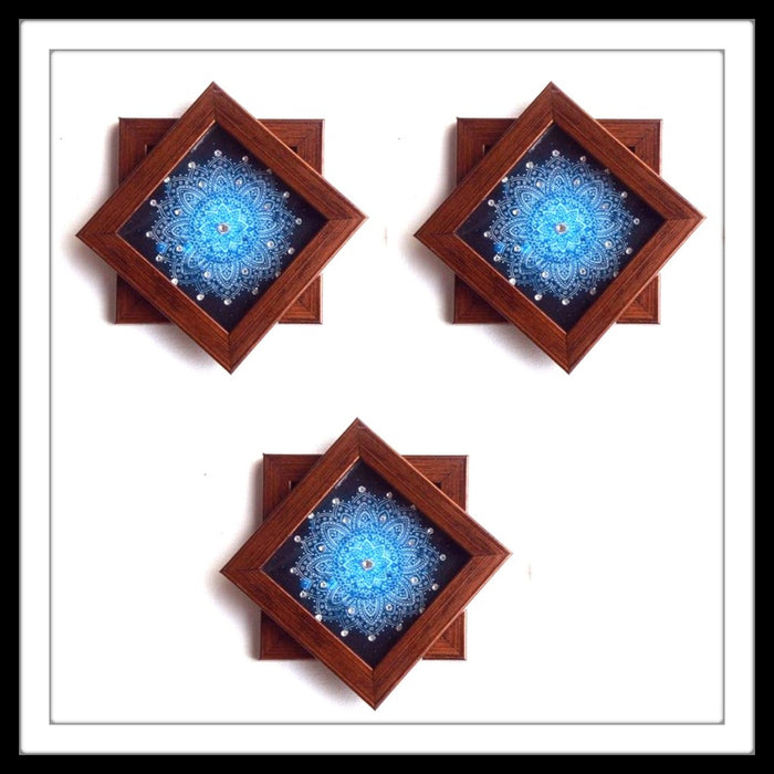 Blue Shibori Coasters - Footprints Forever