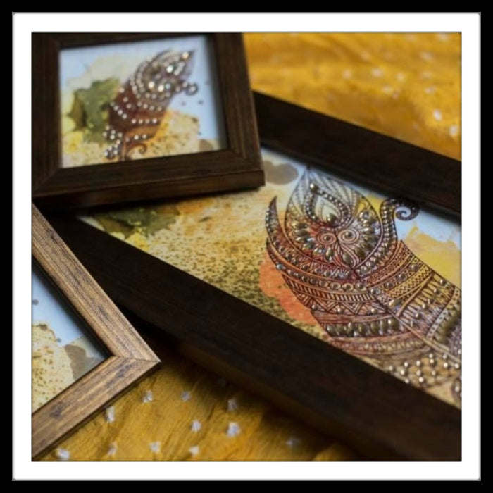 Feather Tray & 2 Coasters Set - Footprints Forever