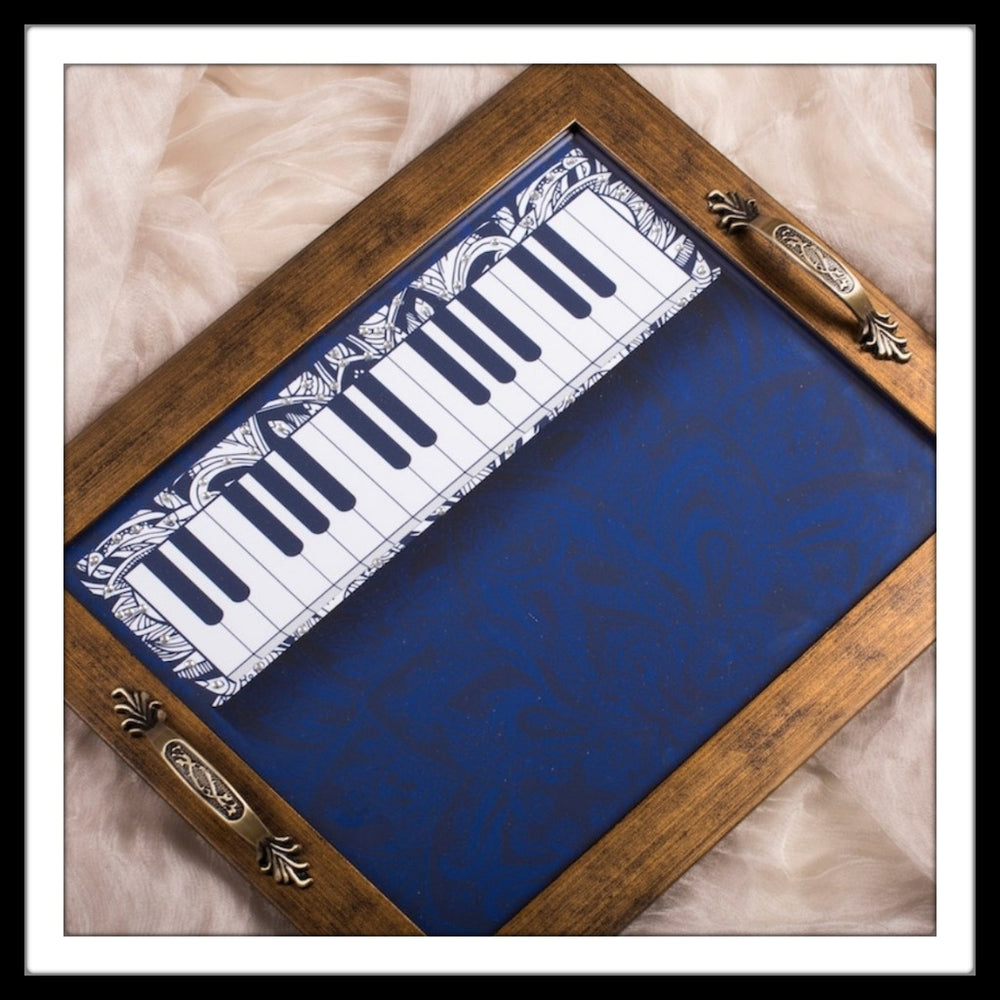 Musical Instruments - Keyboard Rectangular Tray - Footprints Forever