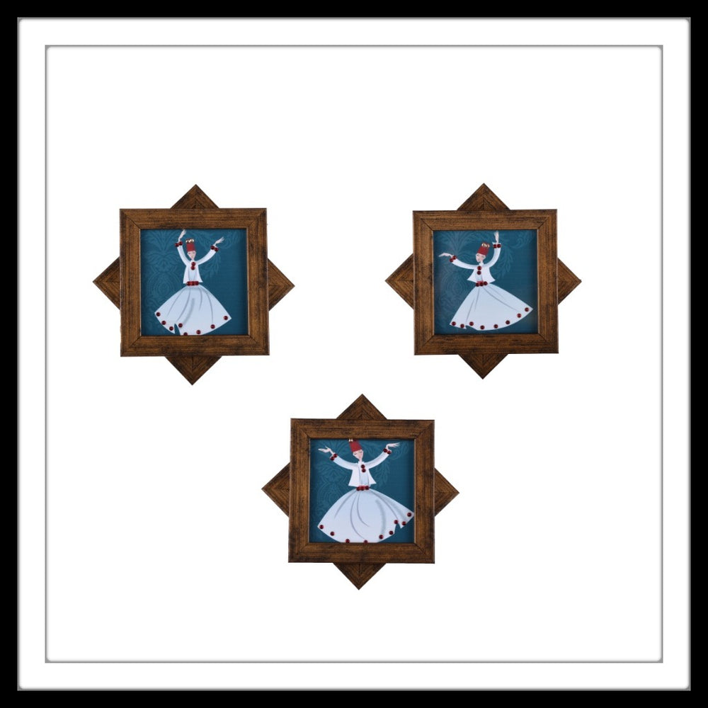 Dancing Dervishes Coasters - Footprints Forever