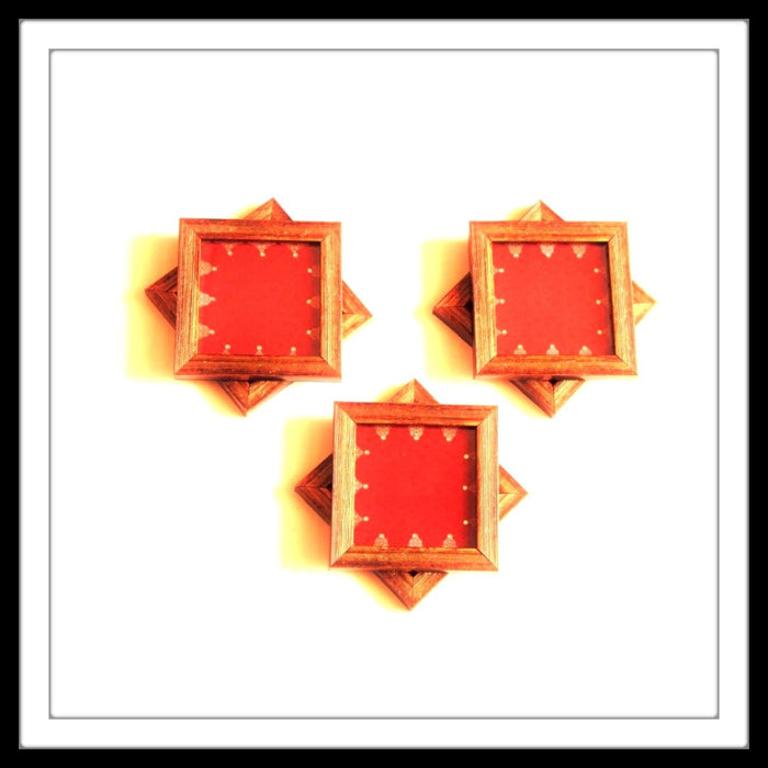 Royal Red  Coasters - Footprints Forever