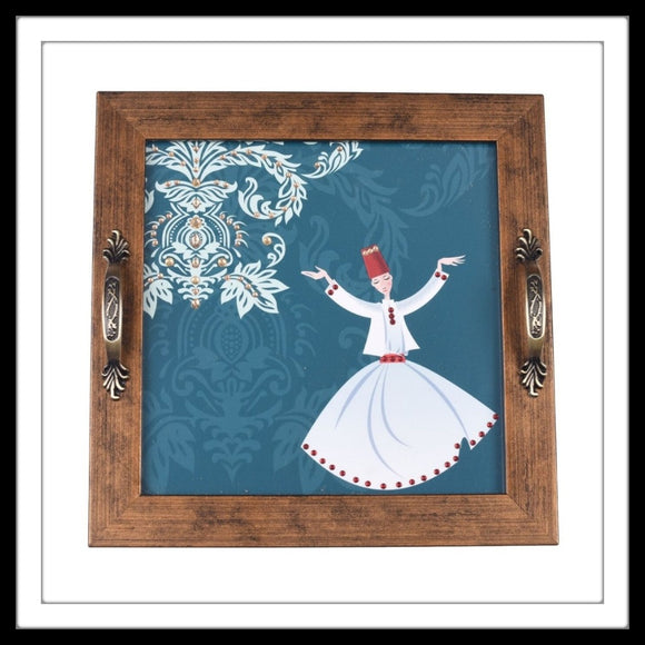 Dancing Dervishes Square Tray