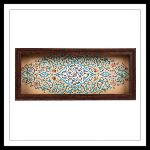 Cream Mughal Motif Box Tray - Footprints Forever