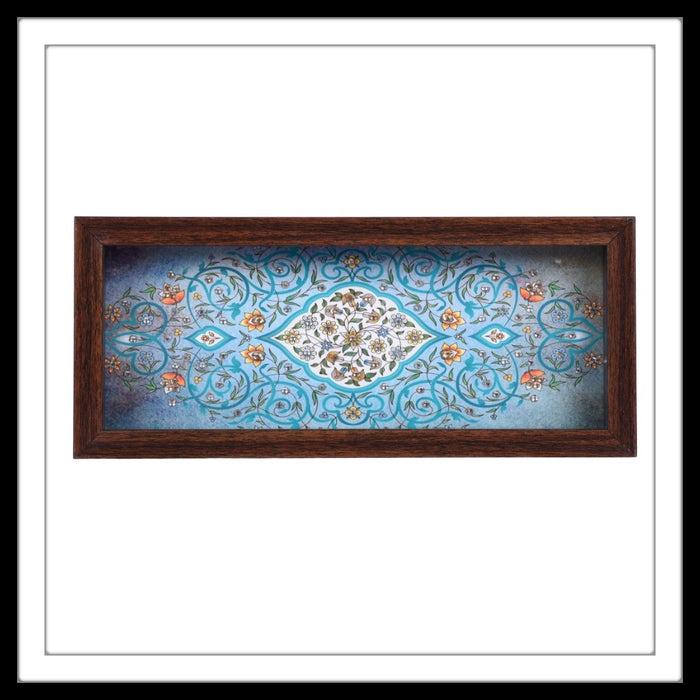 Blue Mughal Motif Box Tray - Footprints Forever