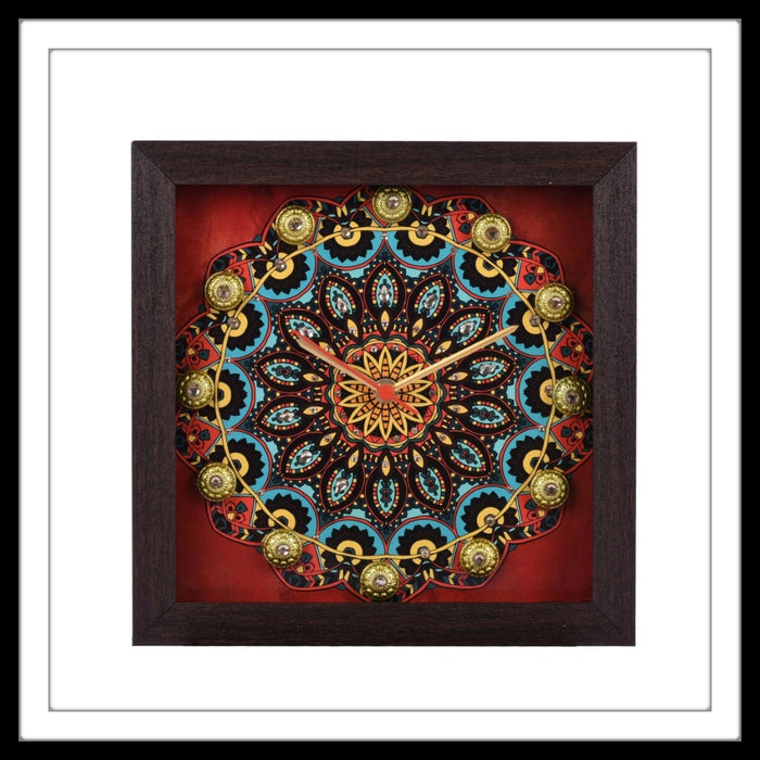Traditional Mandala Clock - Footprints Forever