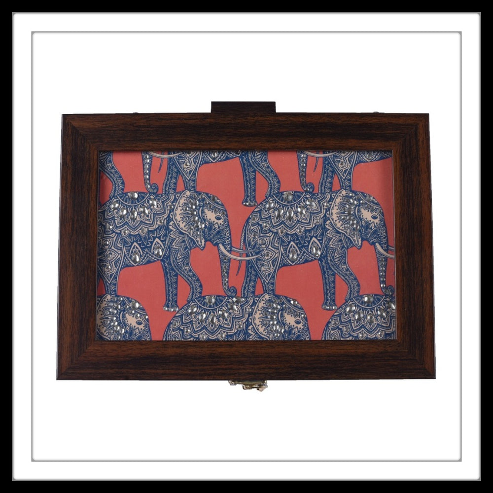Small Batik Elephant Multipurpose Box - Footprints Forever