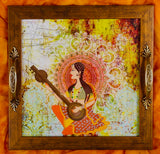 Princess playing Sitar Tray