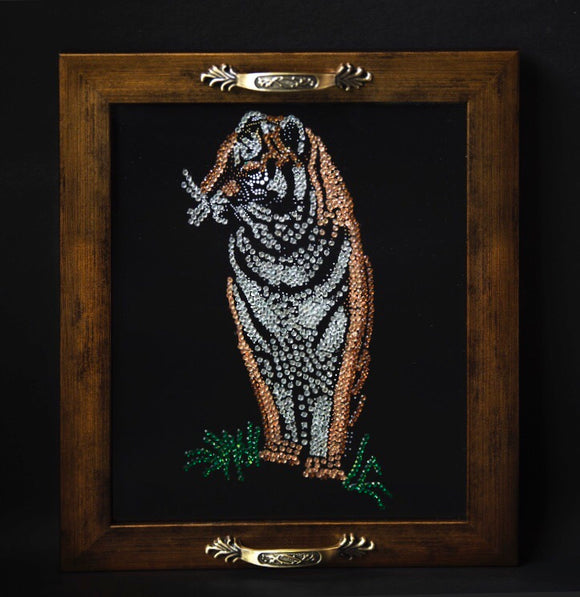 gift tray with tiger print