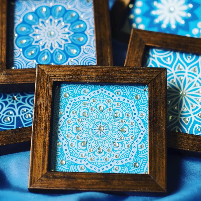 coasters of moroccan theme with diamante  handmade