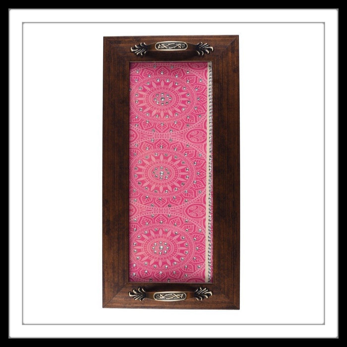 Pink & White Swirls Long Tray - Footprints Forever