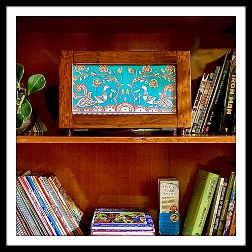 Kalamkari Peacocks Retro Box