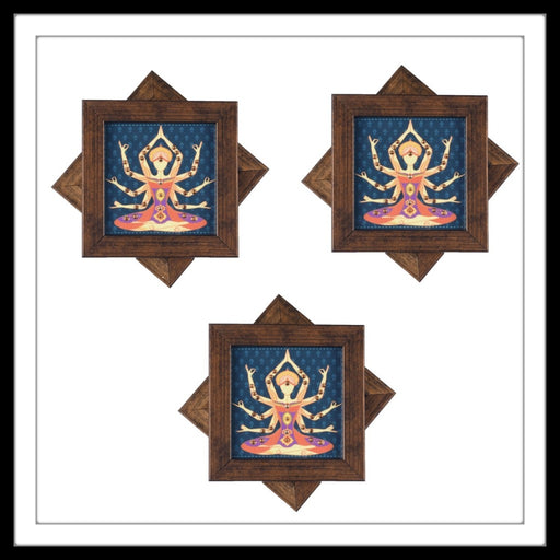 Blue yoga  Coasters - Footprints Forever