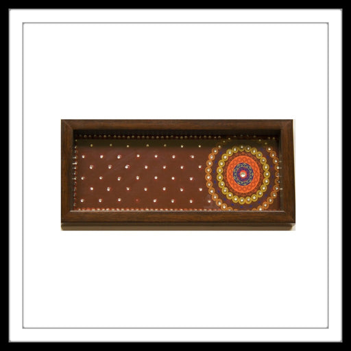 Mahogany Mandala Box Tray - Footprints Forever