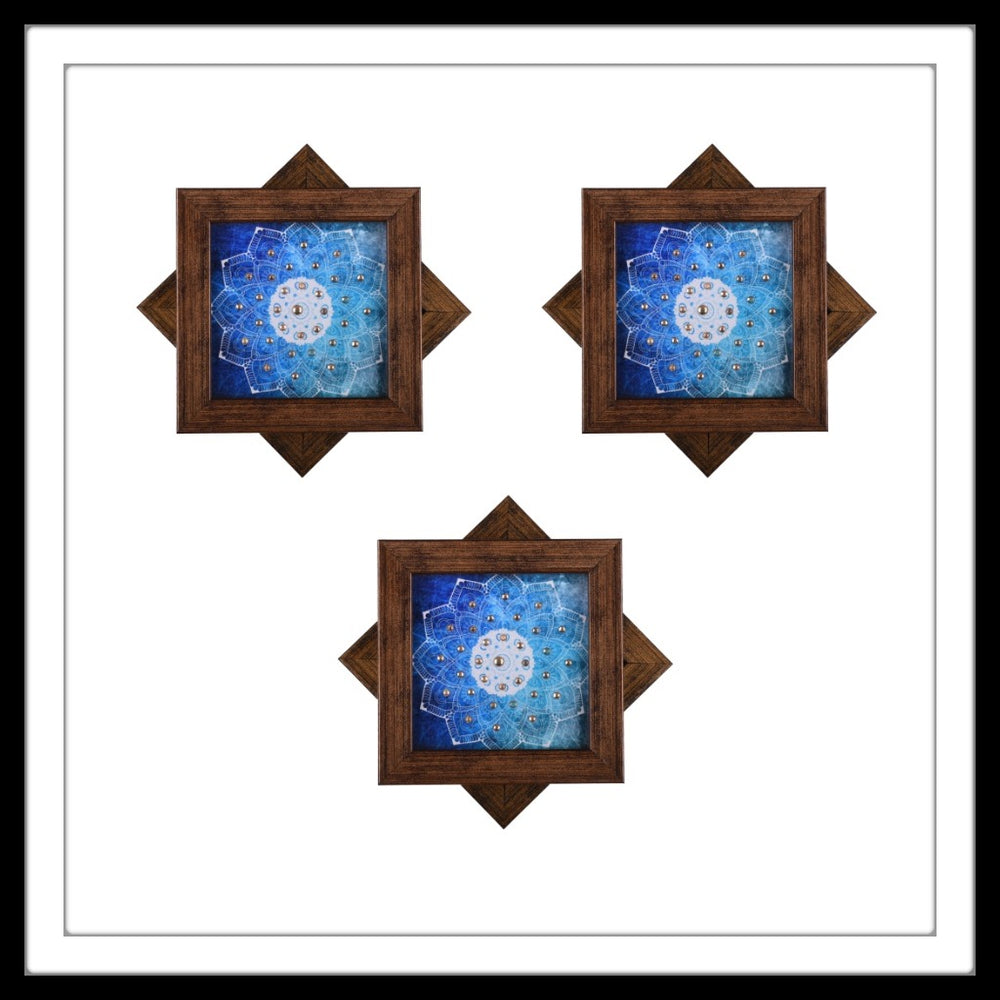 Blue & White Mandala Coasters - Footprints Forever
