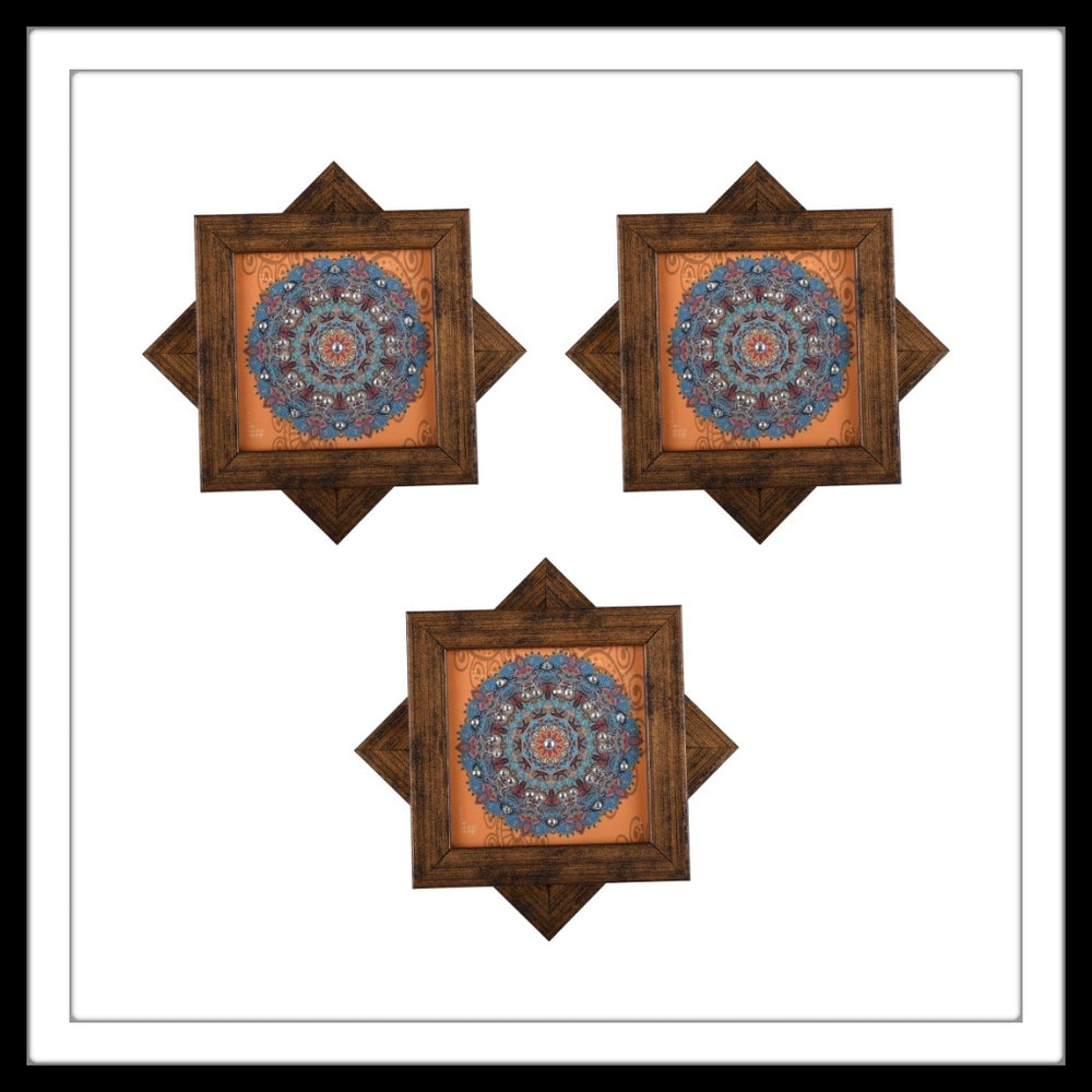 Orange Tibetan Mandala Coasters - Footprints Forever