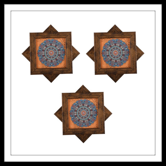 Orange Tibetan Mandala Coasters