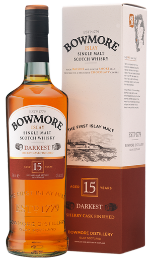 Bowmore Darkest 15 yr Sherry Cask Single Malt Scotch