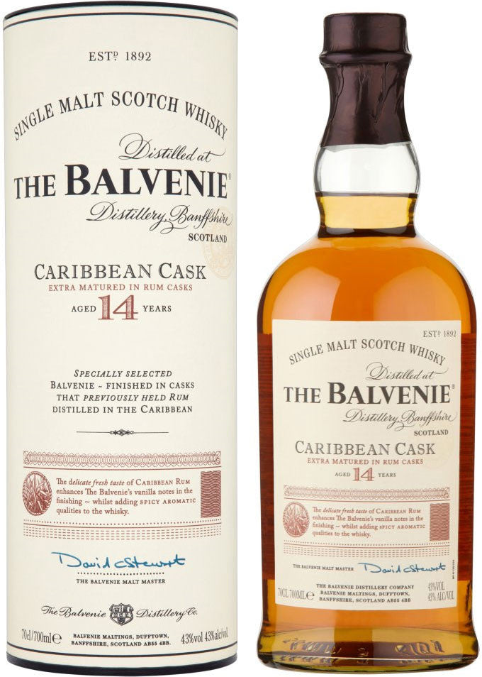 Balvenie 14 Year Caribbean Cask Single Malt Scotch