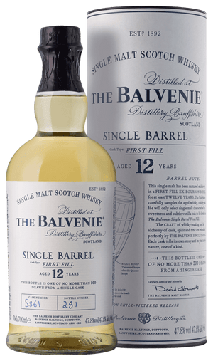 The Balvenie Scotch Single Malt 12 Year Single Barrel First Fill