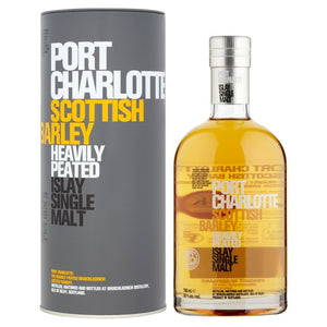 Bruichladdich Port Charlotte Single Malt Scotch Scottish Barley Heavily Peated