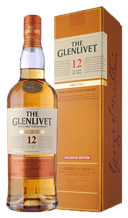 The Glenlivet Scotch Single Malt 12 Year First Fill