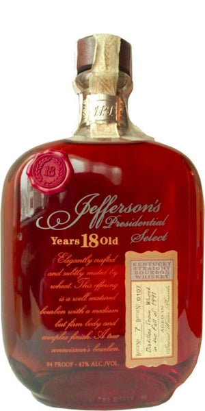 Jefferson's Presidential Select 18 yr