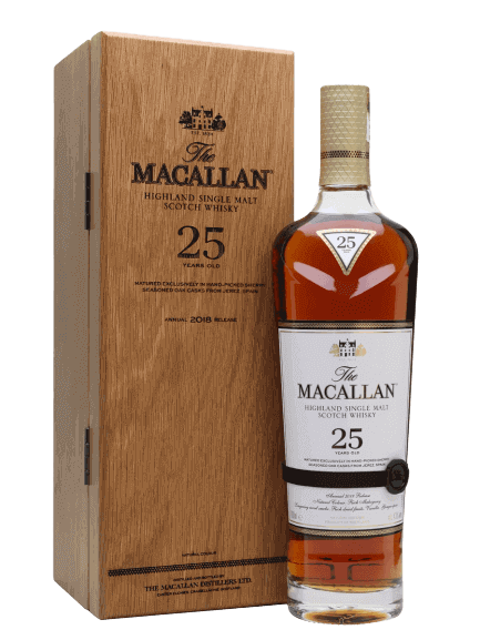 2018 The Macallan Sherry Oak 25 Year Old Single Malt Scotch Whisky