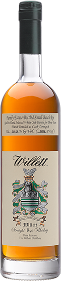 Willett Family Estate 3 year old Single Barrel Rye