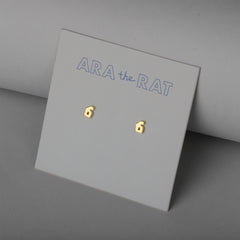 Armenian Letter 18K Gold Plated Earrings