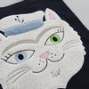 Embroidered Vana the Cat Bag