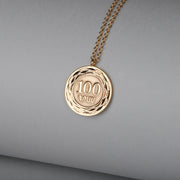 100 DRAM Coin 21K Gold Plated Necklace