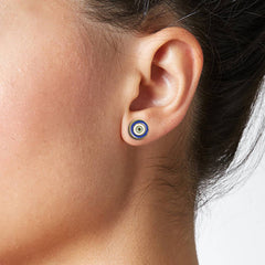 Evil Eye 18K Gold Plated Earrings