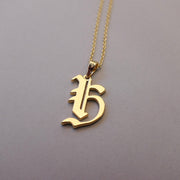 Gold Plated 19th Century Armenian Letter Necklace