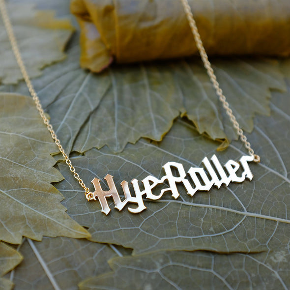 Gold Plated Sterling Silver Hye Roller Necklace