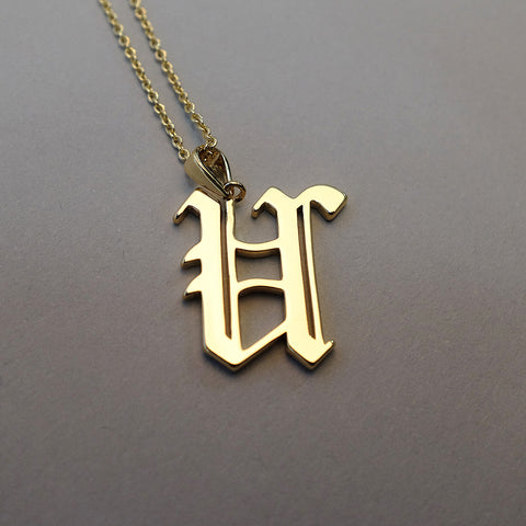 Gold Plated Ottoman Armenian Letter Necklace