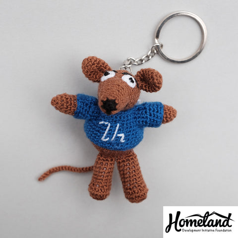 Ara the Rat Crochet Keychain (MADE IN ARMENIA)