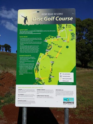 an image of Burnie disc golf course map