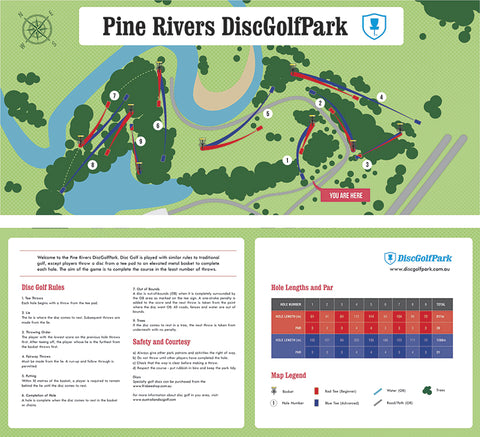 an image of Pine River Disc Golf Park map