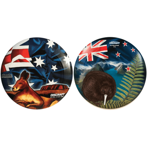 Image of An image showing Aussie & Kiwi Discraft Ultra-Star, with a Australia flag design