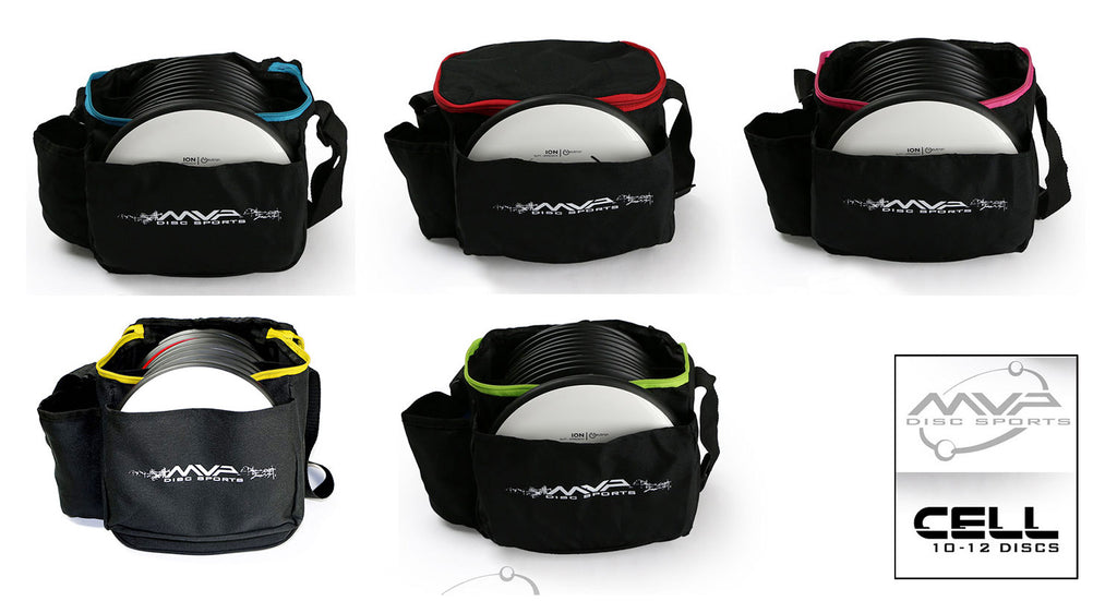 An image showing bags for disc golf frisbee, MVP Cell Disc Golf Starter Bag