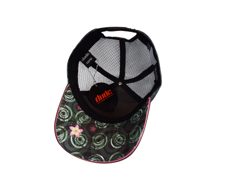 Image of An image showing a Black Jessica Trucker Cap with Toweling sweatband