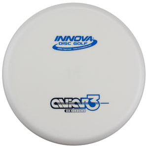 An image showing Innova Aviar3 - DX Plastic, White in color. A disc golf for frisbee.