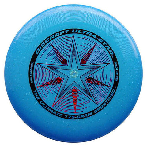 An image showing discraft ultra-star, 175 Gram Ultrastar Ultimate Frisbee, light blue in color
