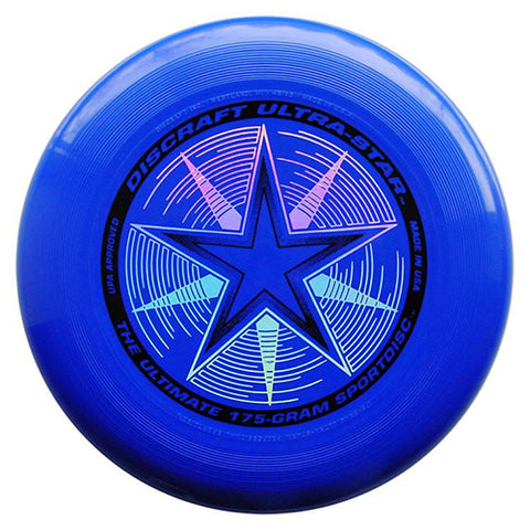 An image showing discraft ultra-star, 175 Gram Ultrastar Ultimate Frisbee, blue in color
