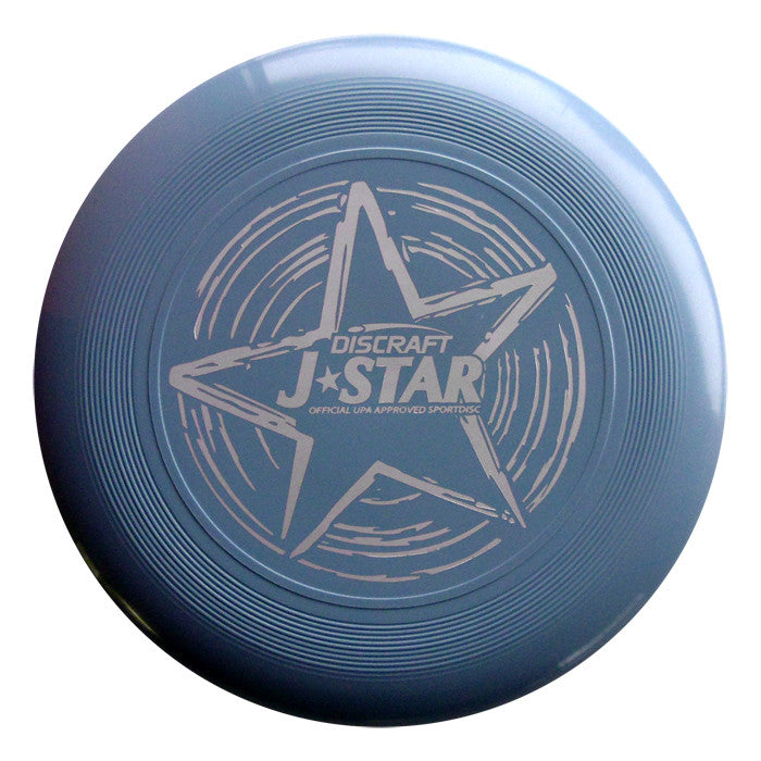 An image showing Discraft J-Star, light blue in color. A disc golf for frisbee