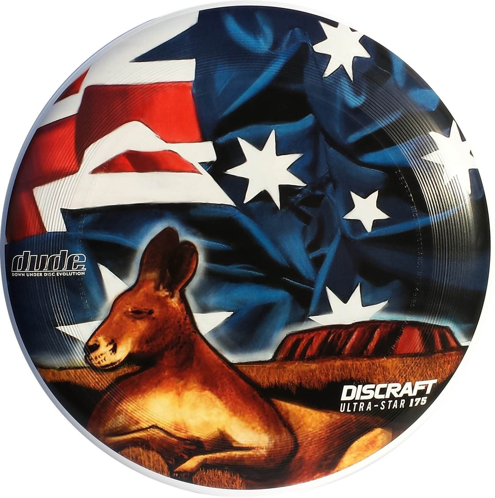An image showing Aussie & Kiwi Discraft Ultra-Star, with a Australia flag design