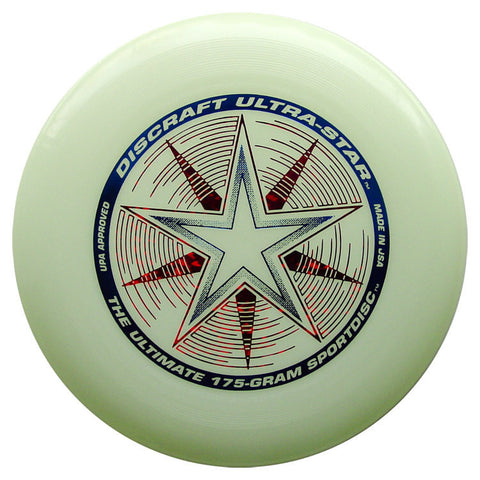 Image of An image showing Discraft Ultra-Star. Nite glo, a disc golf for frisbee