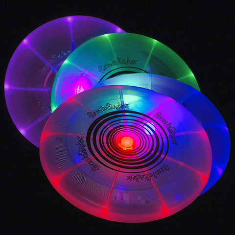 Image of An image showing Nite Ize Flashflight LED Light-Up 185g Beach and Catch Sports Frisbee