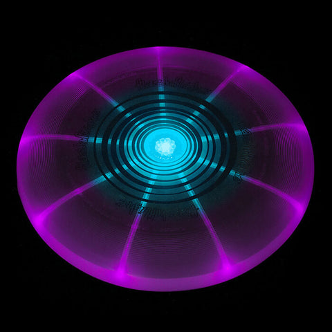 Image of An image showing Nite Ize Flashflight LED Violet Light-Up 185g Beach and Catch Sports Frisbee