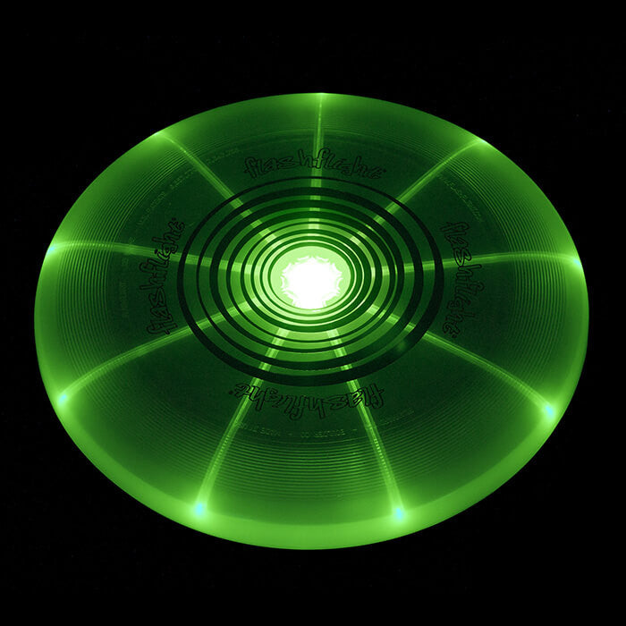 An image showing Nite Ize Flashflight LED Green Light-Up 185g Beach and Catch Sports Frisbee